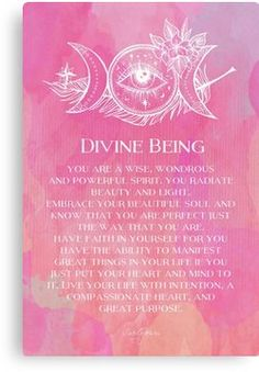 Divine Being by CarlyMarie *YOU are perfect just the way you are* :) Spiritual Awakening, Spiritual Quotes, Spiritual Decor, Mantra, Mind Body Soul, Positive Affirmations, Healing Affirmations, Reiki, Positive Thoughts