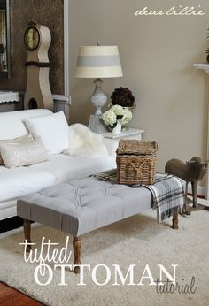 Dear Lillie: Tufted Ottoman Tutorial and Briar Hats in Gray