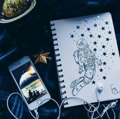 Imagem de drawing, art, and stars