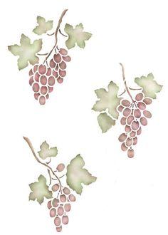 Stencils | Grape Clusters Stencils Set | Royal Design Studio