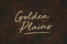 Golden Plains + Bonus Font - Script    https://creativemarket.com/blkbk/720176-Golden-Plains-Bonus-Font?u=alena994