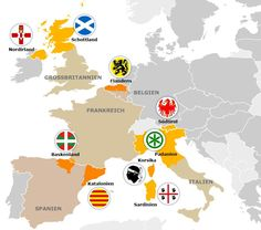 Streben nach Autonomie - Die Schotten stimmen am Donnerstag über ihre Unabhängigkeit ab. Doch in der EU gibt es noch mehr Regionen, die eigenständig werden wollen: Katalonien, Flandern, Südtirol - die wichtigsten Sezessionsbestrebungen im Überblick.