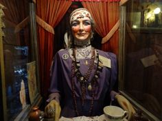 "At Tinkertown, a maker paradise in New Mexico, a fortune teller that looks related to the wish-granting machine from ""Big."""