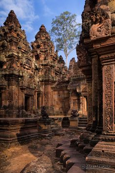 Banteay Srei, a 10th-century Cambodian temple dedicated to the Hindu god Shiva, in Angkor, Cambodia