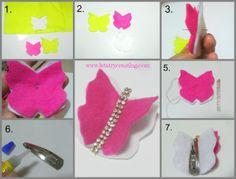 butterfly felt clip