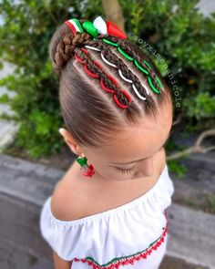 Easy Hairstyles For Kids, Cute Little Girl Hairstyles, Baby Girl Hairstyles, Princess Hairstyles, Baddie Hairstyles, Cute Hairstyles, Mexican Hairstyles, Middle Hair, Girl Hair Dos