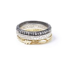 These rings forms part of NOOSA Amsterdam's Symbolic Ring collection. Each ring has its own symbolism, based on stories and traditions from all around the world. Noosa Amsterdam, Ring Ring, Jewlery, Jewelry Accessories, Rings For Men, Bangles, Wedding Rings, Engagement Rings, My Style