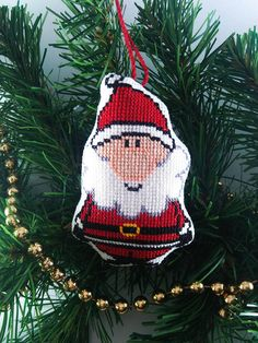 Santa Claus Christmas decorations Christmas decor diy Christmas gifts Christmas tree Christmas toys Christmas home decor Christmas handmade gifts Christmas ornament Santa cross stitch Christmas gift Holiday decor Small colorful decor Xmas ornament