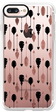 Casetify Protective iPhone 7 Plus Case and iPhone 7 Cases. Other Pattern iPhone Covers - Bohemian Arrows Feathers by Pink Water   Casetify
