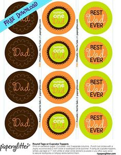 Printable Father's Day Labels