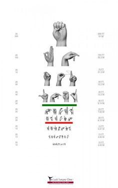 Test de vue en langue des signes