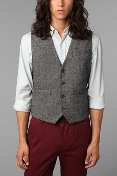 Hawkings McGill Stanton Tweed Vest  #UrbanOutfitters  vest only