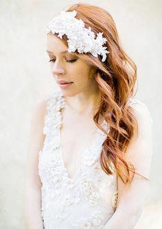 Matrimonio accessorio dei capelli fascia in rilievo di sibodesigns