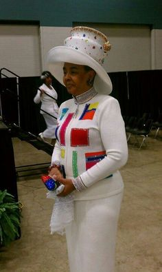 Lady Sheila Cook in Gees Hats Church Attire, Church Suits, Office Outfits Women, Woman Outfits, Hats For Women, Clothes For Women, Black Church, Night Club Outfits, Church Fashion