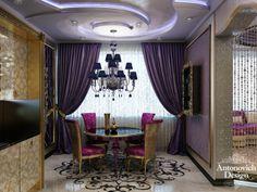 Кухня и столовая в стиле арт-деко - насыщенность богатым декором и смелое сочетание цветов создали просто праздник комфорта и уюта.