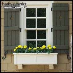 Most people think that exterior shutters or outdoor shutters are mere ornaments that compliment our window. Little do they kno. Exterior Shutter Colors, Window Shutters Exterior, Outdoor Shutters, House Paint Exterior, Exterior House Colors, Exterior Design, Garage Exterior, Outside Window Shutters, Cafe Exterior