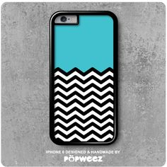 Coque iPhone 6 Chevrons Bleu Azur  Envoi Offert dans le par POPWEEZ