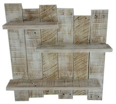 White Pallet Wood Shelf Wall Decor White door TheWoodGarageLLC