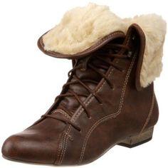 Steve Madden Women's Blizzardd Faux Fur Lace-up Boot -