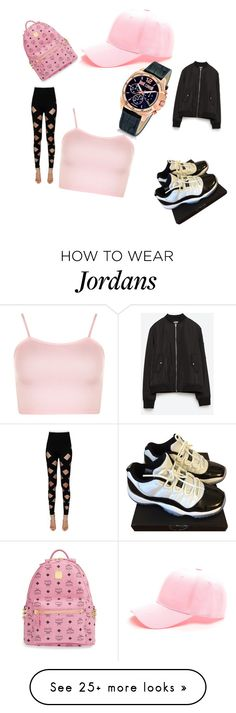 """Muisc Studio"" by lilcarmelmami on Polyvore featuring WearAll, Zara, Balmain, NIKE, MCM and Just Cavalli"
