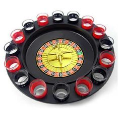 Drinking Roulette Party Set Adult Drinking Game Spin Shot Glass Games Stag Hen | eBay £6.85