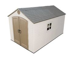 Lifetime 8-Feet x 12.5-Feet Storage Shed, # 6402 by Lifetime. $1311.18. Get a Lifetime shed and Life gets a lot easier! At Lifetime, we design attractive outdoor plastic sheds to help you get your act together. With one of our outdoor plastic sheds, you'll be able to find what you need, when you need it. Our outdoor plastic sheds come with handy shelving units so your garden supplies at right at your fingertips. These Lifetime resin sheds are built and designed for style and qu...
