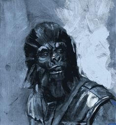 Planet of The Apes illustration.