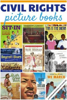 Civil Rights Picture Books for Kids Teach your kids about the civil rights movement: 13 must read picture books to get you started.Teach your kids about the civil rights movement: 13 must read picture books to get you started. Martin Luther King, Teaching Reading, Teaching Kids, Reading Lists, Reading Resources, Kids Reading, Reading Nook, Mentor Texts, Teaching Social Studies