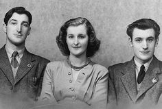 Olwyn with her brothers, Gerald (left) and Ted (right)