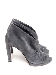 Prada size 39 grey suede booties. Gorgeous. *nearly tempted, but I really want closed toe booties for year round. And probably suede is a bad idea.