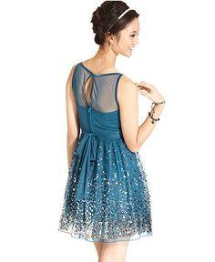 b7a637507 Rox Juniors Dress, Sleeveless Sequin A-Line - Juniors Dresses -