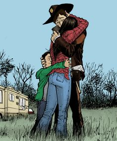 The Grimes family: Comic version Walking Dead Comics, The Walking Dead, Stuff And Thangs, Big Time, Robin, Nerd, Fandom, Posters, Tv