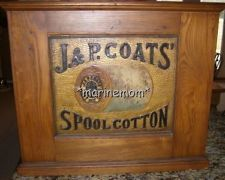J and P Coats spool cotton sewing cabinet. J P Coats,Antique ...