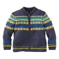 Bayern Blau Zip Cardigan | Bayern Blau means Bavarian Blue. This cardigan is inspired by sweaters we saw on Bavarian ski slopes.