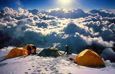 Camping above the clouds.