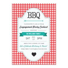 Fun Engagement Party BBQ Invite