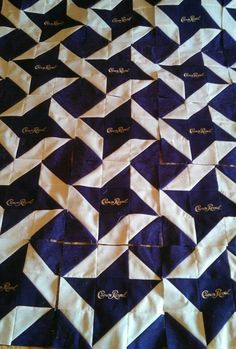 Crown royal quilt Crown Royal Quilt, Crown Royal Bags, Royal Crowns, Quilt Of Valor, Quilting Board, Quilt Patterns, Sewing Patterns, Gold Crown, Sewing Projects
