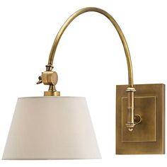 Richford Polished Brass Swing Arm Wall Lamp - #1R145 | www.lampsplus.com