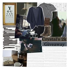 """""""crystal's 2k giveaway; CLOSED"""" by l0st-in-w0nd3rland ❤ liked on Polyvore featuring Möve, TEN, Nobody Denim and AllSaints"""