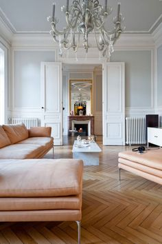 Find out why modern living room design is the way to go! A living room design to make any living room decor ideas be the brightest of them all. Living Room Designs, Living Room Decor, Living Spaces, Living Area, Design Scandinavian, Scandinavian Living, Parisian Apartment, Paris Apartment Interiors, French Apartment