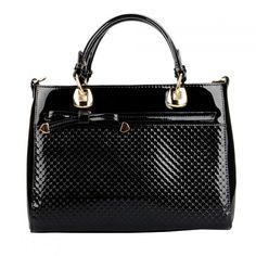 Papaya Black Patent Bow Bag Bow Bag, Discount Designer Handbags, Handbag Accessories, Bows, Black, Black People, Bowties, Bow, Ribbon