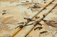 Pure spun silk fabricpecker coconut tree print in by LazyRuler, $7.70 chic print~