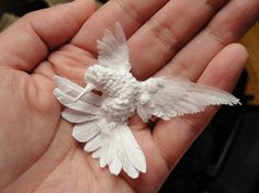 Paper-sculpture hummingbird