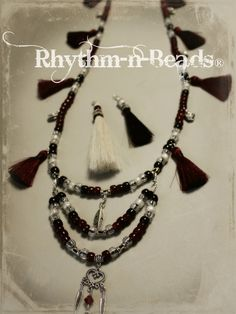 Rhythm Beads Hoofprints On Your Heart Horseshoe Art Wired Whinnies Feathers n Flair Stirrup Steeds Horse Necklace, Tassel Necklace, Necklaces, Natural Horsemanship, Horseshoe Art, Happy Trails, Pretty Horses, Collar Styles, Ponies