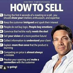 How to Sell -Jordan Belfort Double Tap Tag a Friend Business Money, Business Advice, Business Entrepreneur, Best Business Quotes, Sales Motivation, Business Motivation, Sales And Marketing, Business Marketing, Marketing Software