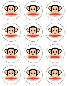Paul Frank Julius edible image cupcake toppers 12 Paul Frank's Julius Monkey toppers for cupcake or cookies. $6.50, via Etsy.