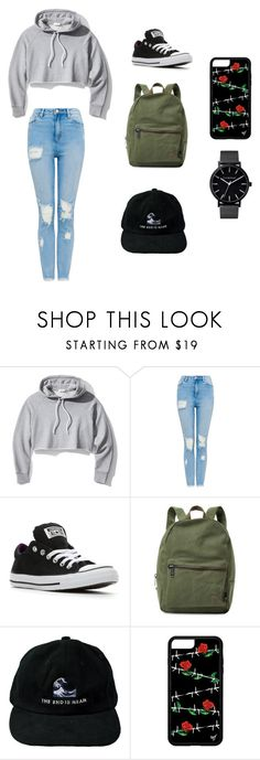 """""""Untitled #72"""" by kat-21 on Polyvore featuring Frame, Converse and Herschel Supply Co."""