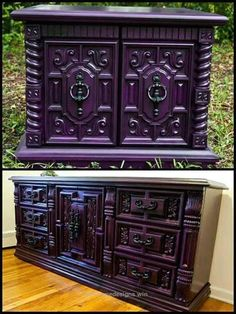 Gothic Purple Bedroom Furniture be sure to check us out on Fb Purple Bedroom Furniture be sure to check us out on Fb Goth Home, Painted Furniture, Purple Bedroom, Furniture Decor, Cheap Home Decor, Gothic Home Decor, Gothic Bedroom, Trending Decor, Furniture Makeover