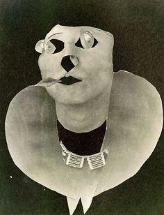 Leini Spoor, 1932 by Erwin Blumenfeld, photomontage. Dada Collage, Art Du Collage, Collages, Photomontage, Hannah Höch, Dada Artists, Tristan Tzara, Hans Richter, Hans Arp