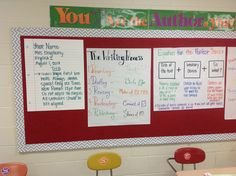 Anchor charts for high school bulletin boards